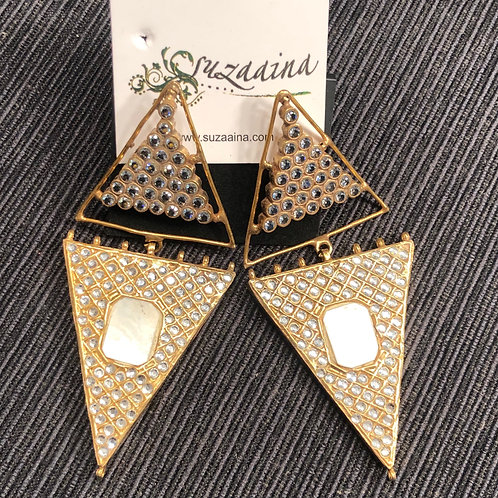 Adeer 22k Gold plated Handcrafted Earrings .