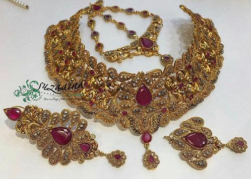 Anari 22k Gold plated Handcrafted Bridal Set.