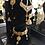 Thumbnail: Hira 22k Gold Plated Handcrafted Kundan Choker Set.