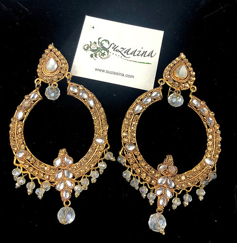 Dayera 22k Gold plated Kundan Baley