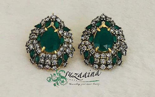 Hurrain 22k Gold plated Handcrafted Earrings.