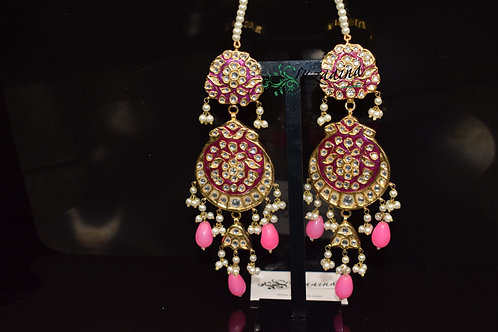 Meena 22k Gold plated Handcrafted Earrings SZER8