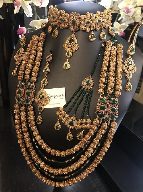 Subhani 22k Gold plated Set with Ankara Mala.