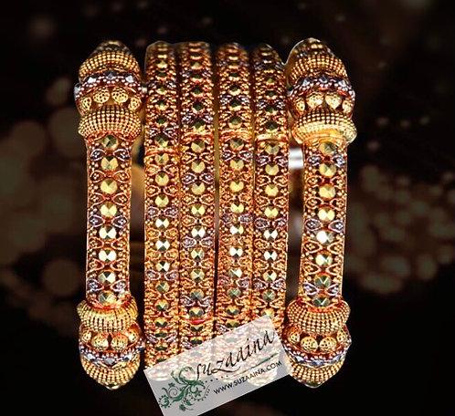 Kaya 24k Goldplated Set of bangles