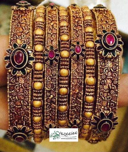 Durya 22k Goldplated Set of Bangles