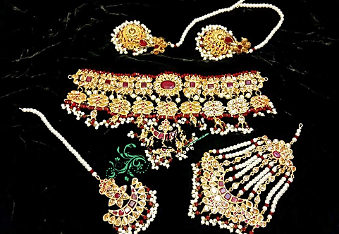 Sassi 24k Gold Plated Bridal Set