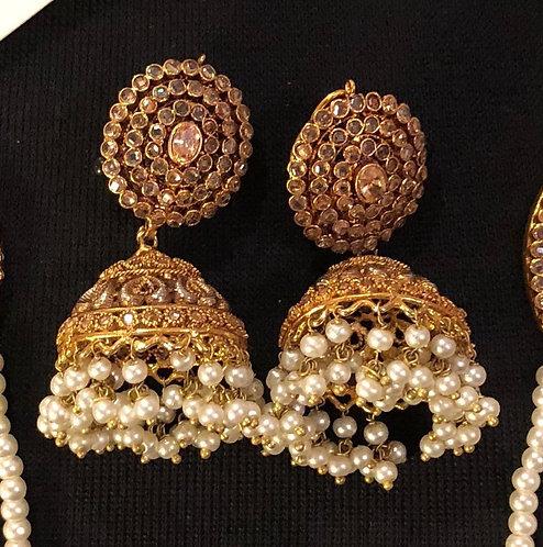 Sahiba 22k Gold plated Jhumkey