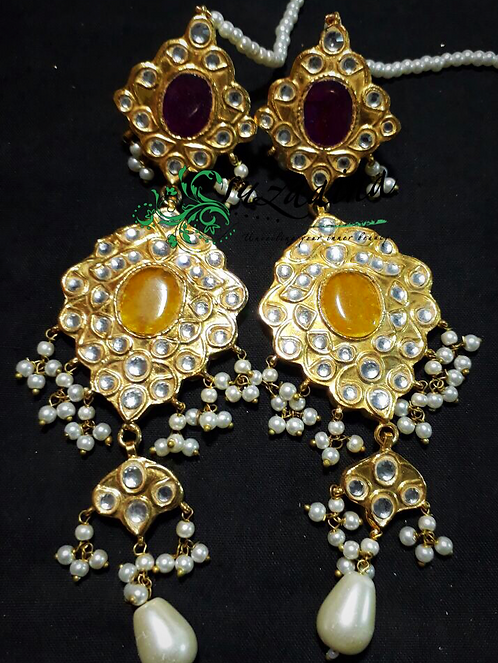Meena 22k Gold plated Handcrafted Earrings SZER17