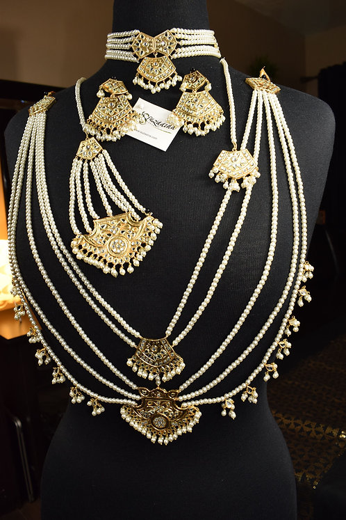 Saloni 22k Gold Plated Bridal Set