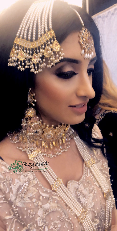 Sibgha 22k Gold plated Handcrafted Choker Bridal Set