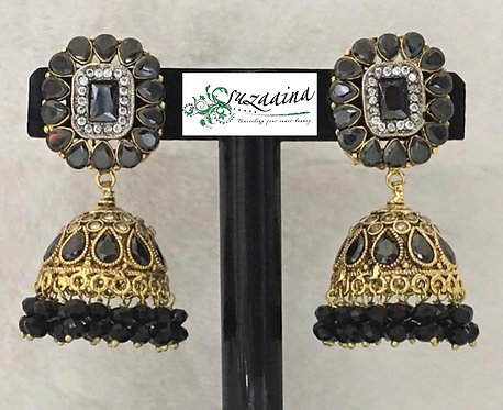 Juna 22k Gold plated Handcrafted Earrings .