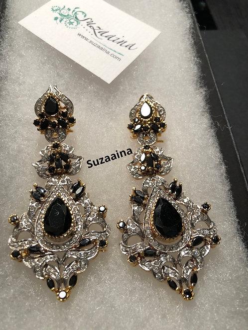 Ruhan Rhodium plated Earrings.