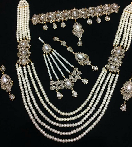 Subhani 22k Gold plated Handcrafted Bridal Choker Set