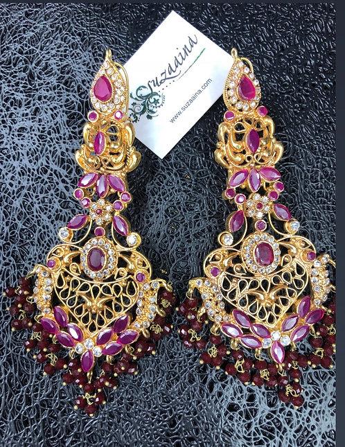 Shan e Jehan 22k Gold plated Earrings.