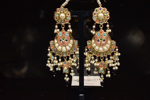 Meena 22k Gold plated Handcrafted Earrings SZER14