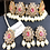 Thumbnail: Gamila 22k Gold plated Kundan Choker Set.