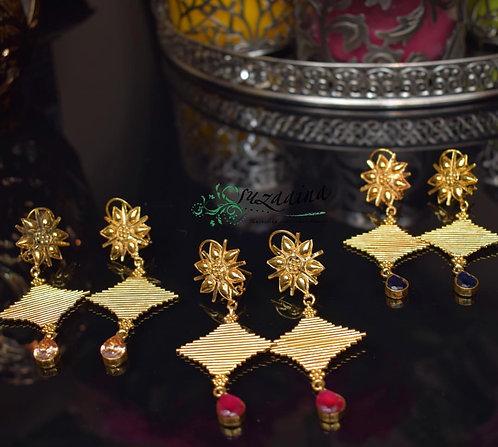 Grace 22k Gold plate Handcrafted Earrings