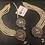 Thumbnail: Shimmer 22k Gold plated Earrings Tikka Set