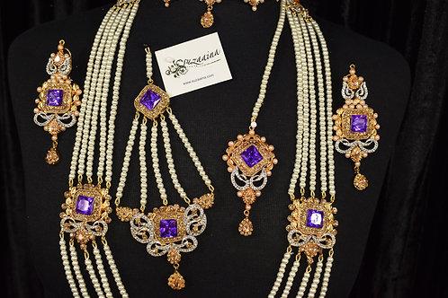 Zimal 22k Gold plated Choker Bridal Set