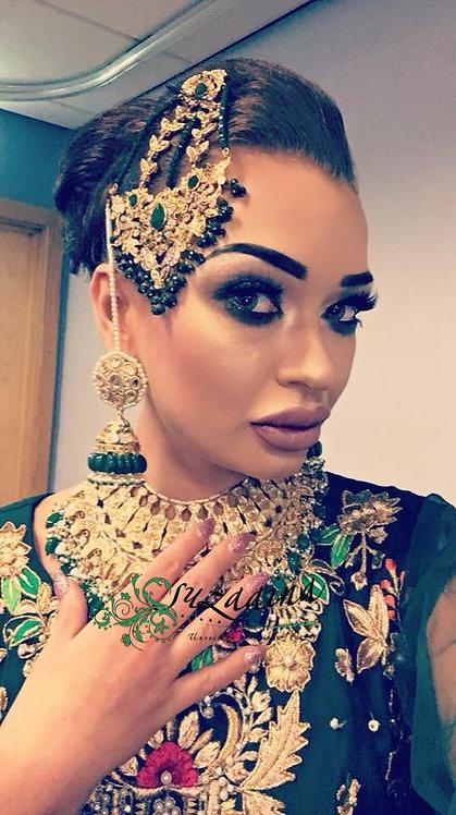 Jehanara 24k Gold plated Bridal set