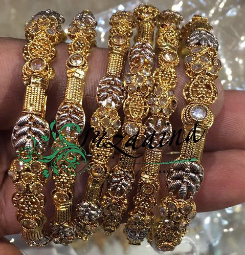 Zarish 22K Gold plated Handcrafted Bangles