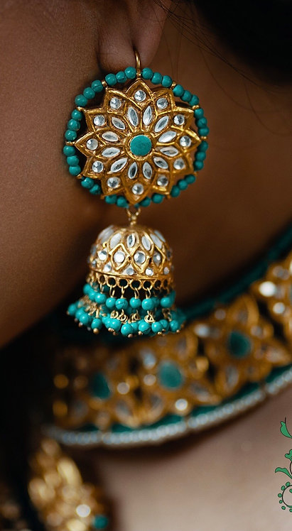 Reem 24k Gold plated Handcrafted Jhumkey