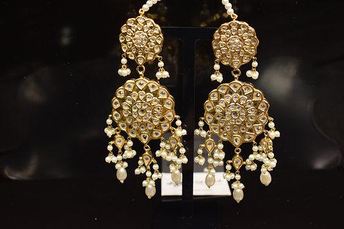 Meena 22k Gold plated Handcrafted Kundan Earrings SZER13