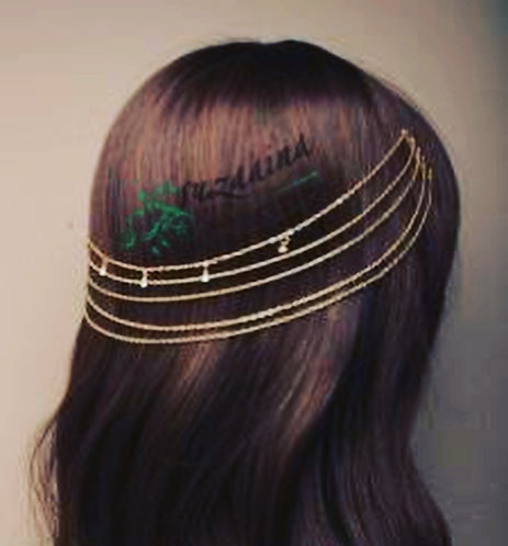 Hareem Gold hair chains on Combs with Crystal