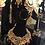 Thumbnail: Ambeer 22k Gold Plated Handcrafted Thappa Kundan Bridal Set.