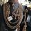 Thumbnail: Maikal 22k Gold plated Handcrafted Polki Mala Set.