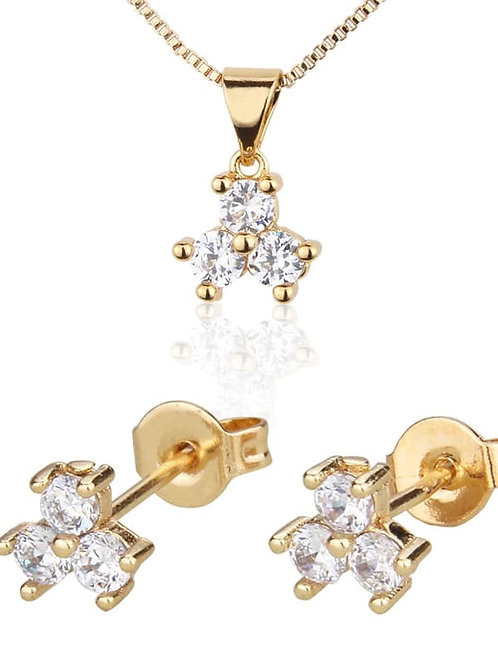 Drees 22k Gold plated Pendant Set .