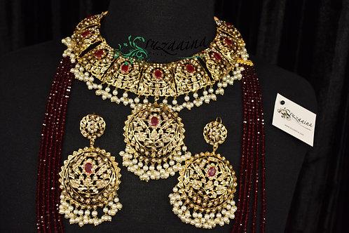 Asmara 22k Gold plated Bridal set