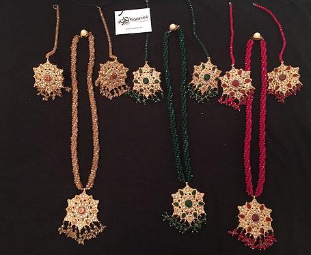 Arooj  22k Gold plated Pendant Set