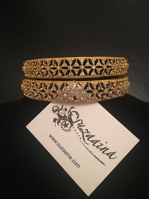 Zircon 22k Goldplated bangles