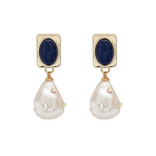 Hamair 18k Gold plated Pearl Vintage Drop Earrings.