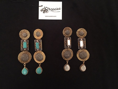 Jaal 22k Gold plated Handcrafted Danglers