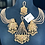 Thumbnail: Malika 22k Gold Plated Earrings, Jhumer & Tikka Set