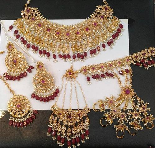 Banno 22k Gold plated Handcrafted Bridal Set .