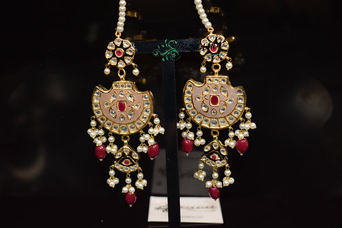 Meena 22k Gold plated Handcrafted Earrings SZER9