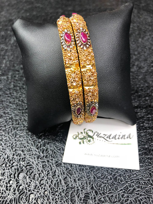 Zukya 22k Gold plated Handcrafted Bangles.