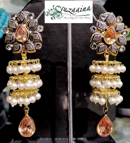 Hamna 22k Gold plated Handcrafted Earrings.