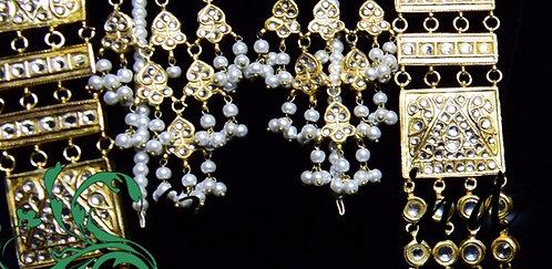 Daneen Gold plated Handcrafted Kundan Bridal Mala Set