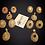 Thumbnail: Maria 24k Gold plated Pendant Set