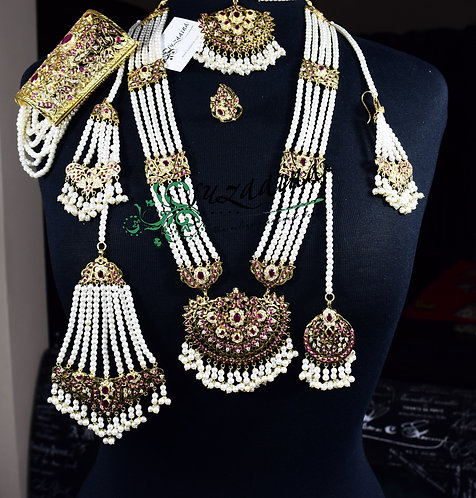 Dulhania 24k Gold plated 9 pieces Bridal Set.