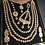 Thumbnail: Maikal 22k Gold plated Handcrafted Diamond polki Choker Bridal Set.