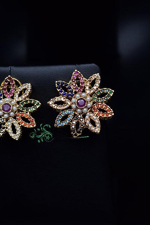 Naurangi 22k Gold plated earrings.