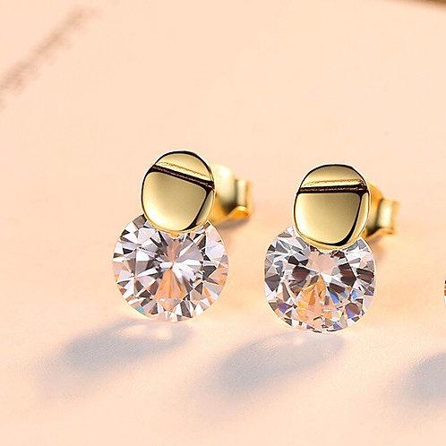 Princess 925 sterling silver, swarovski crystal Earrings.
