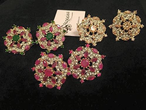 Nurjehan 22k Gold plated Earrings.