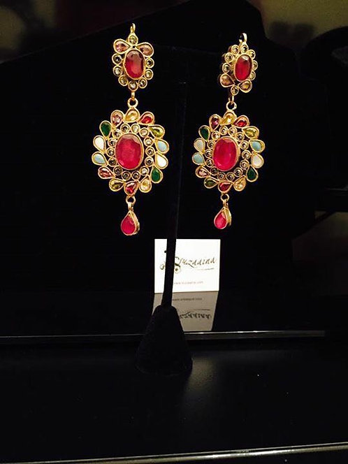 Rozi 22k Gold plated Handcrafted Earrings