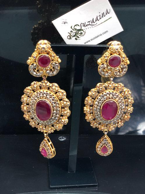 Raha 22k Gold plated Polki Earrings